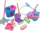 ZSWQ Juego de 9 mopas Pretend Play Mop de juguete lindo para la limpieza de la casa de los niños