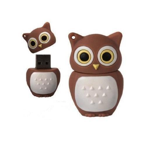 D-CLICK High Quality 4GB/8GB/16GB/32GB/64GB/Cool Shape USB High speed Flash Memory Stick Pen Drive Disk (8GB, Brown Owl)