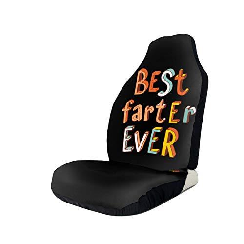 MEYU3ZU Best Farter Ever Car Front Seat Covers Fit Most Suvs Car Truck Van Sedan 1/2 Pcs