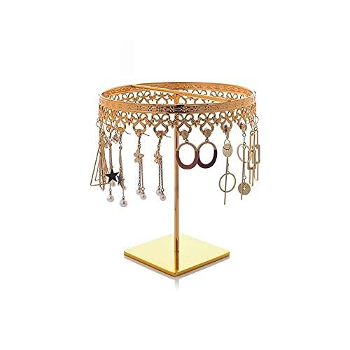 LYLY Soporte de joyería para pendientes, organizador de joyas, soporte de exhibición de metal, soporte para collares, para anillos, pendientes, collares y joyas (color B: B)