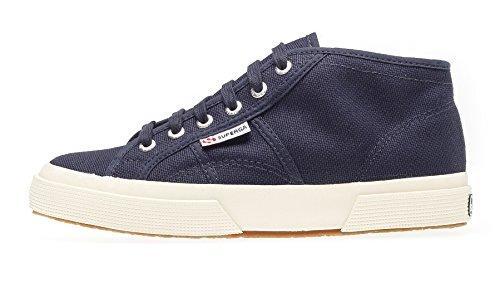 Superga 2754 Cotu, Unisex-Erwachsene Hohe Sneaker, Blau (Blau/933 Navy), 42.5 EU,(8.5UK)