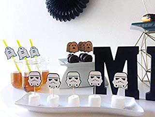 Storm Trooper Topper, Storm Trooper Decoration, Storm Trooper Birthday Party, (SET of 12)