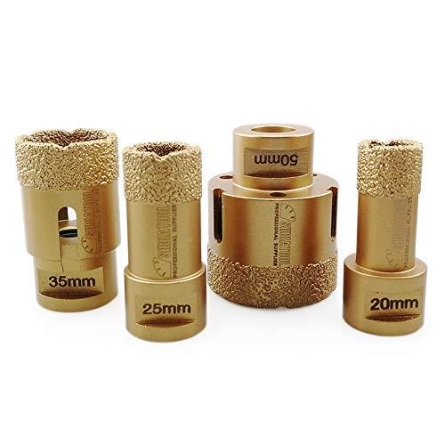 SHDIATOOL Dry Diamond Drill Core Bits 4pcs/Set for Porcelain Tile Granite Marble Dia 20/25/35/50mm