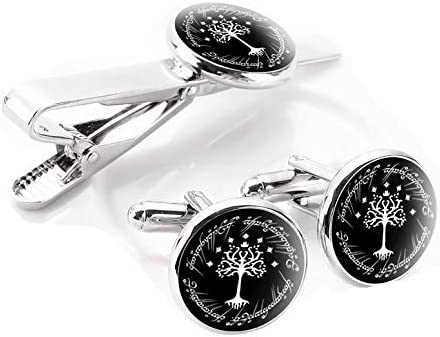White Tree Cufflinks Personalized Tree of Life Wedding Christmas Cuff Links Gift For Men Father Dad Husband