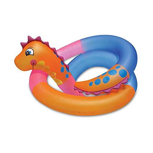 QHWJ Acqua Galleggiante Gonfiabile Fila, Lungo a Forma di Serpente Gonfiabile Anello di Nuoto Bambini Apprendimento Nuoto Anello ad Acqua Galleggiante Cerchio Lungo PVC salvagente