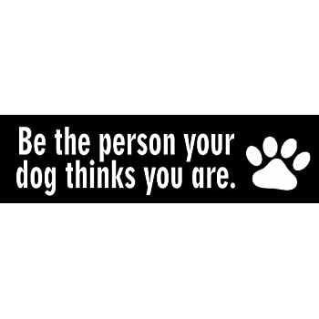 StickerJOE Be The Person Your Dog Thinks You Are Bumper Sticker 9 X 3