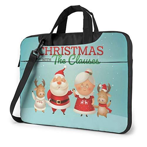 Miwaimao Christ_Mas Llaptop Bag 15.6 Inch Briefcase Shoulder Bag Satchel Tablet Bussiness Carrying Handbag Laptop Sleeve