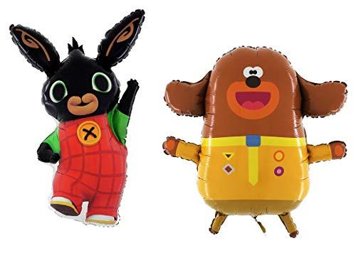 Toyland® Giant Jumbo-maat Hey Duggee + Bing C Beebies Character Foil Balloons - Ballonnen voor kinderfeestjes