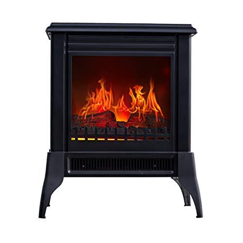 LJPW Haard elektrisch met verwarming muur radiografische gestuurde faek haard elektrisch dimbaar timerfunctie 1400 W vlammeneffect verwarmer oven met echte warmte