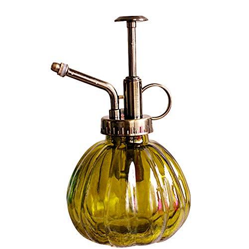 SLHP - Regadera de Cristal de Colores para Plantas, Estilo Vintage, pulverizador de Agua, pulverizador de Plantas, Herramientas de jardinería para Plantas bonsáis, Verde Oscuro