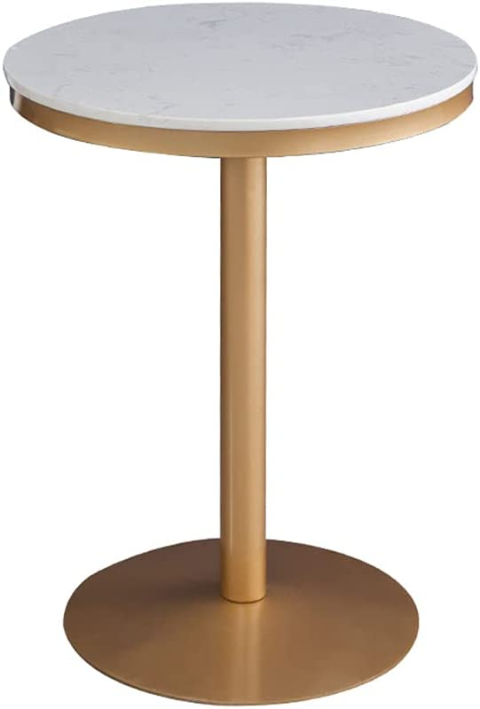 YLMF Modern High Table-Round Bar w Stripe Albuquerque depot Mall Marble Table Top