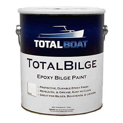 TotalBoat TotalBilge Epoxy Based Bilge Paint for Boat Bilges, Bulkheads, Engine Rooms and Locker Areas (White, Gallon)