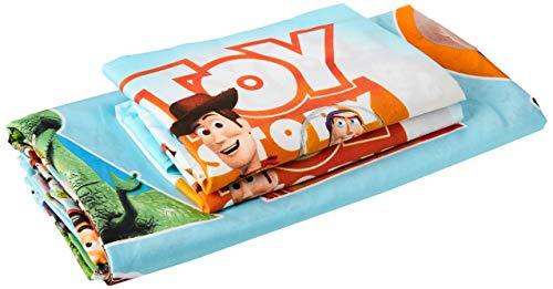 Disney Toy Story - Juego de Funda de edredón Reversible para Cama Doble, Color Azul