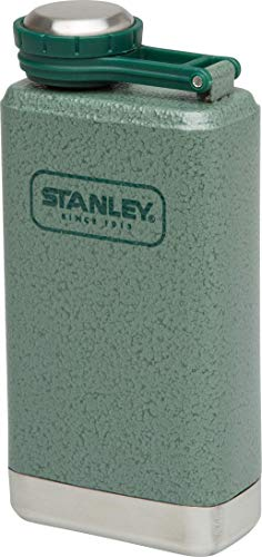 Stanley Adventure Series Steel Flask 0.14 Liter Hammertone Green 18/8 Stainless Steel Integrated lanyard Leak Proof Packable BPA free Unbreakable