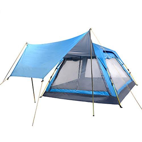 WZP- 3-4 Personnes Tente dôme imperméable Ultra Grande avec Porche - Tentes de Camping familiales protégées à 100% Contre Les UV avec Sac de Transport