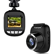 Xuanpad S3 Mini Dash Cam, Full HD 1080P Car Camera with 168° Wide Angle, G-sensor, Loop Recording