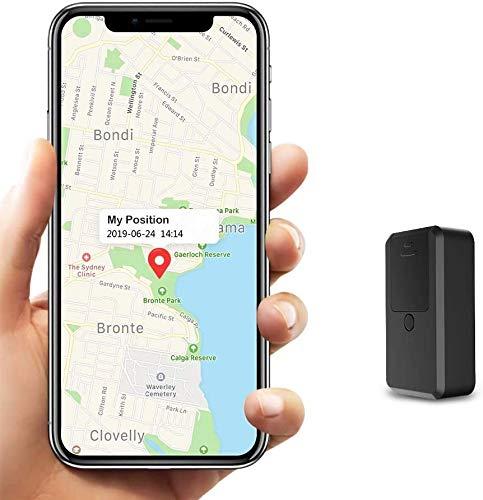 Localizador GPS para Coche Tiempo Real Mini GPS Tracker,Rastreador GPS Pequeño de Seguimiento Paquete Anti-perdido para Totalizador Infantil Lost Find Aplicaciones Gratuitas para iOS y Android