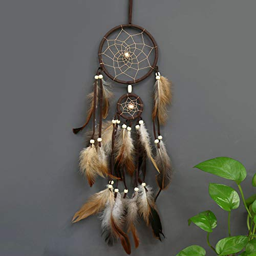 PWYXSA Feather Dream Catcher Handmade Native American Dream Catchers Bohe Wall Hanging Decoration Ornament for Kids Bedroom Car Decor Home Decoration Birthday Party