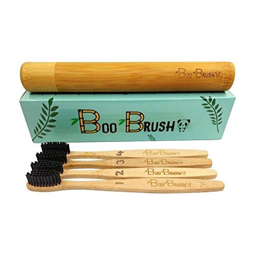 Cepillos de dientes de bambú Boo Brush