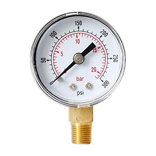 Harilla Manómetro Radial de Metal para Compresor de Aire TS-Y40Z8 0-20bar 0-300psi