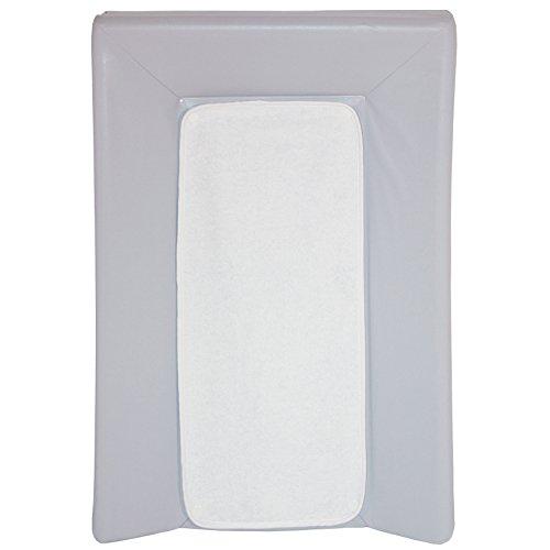 BabyCalin - Colchón cambiador de lujo gris + toalla blanca