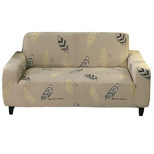 Jaoul - Copridivano elasticizzato per 3 cuscini, con motivo floreale, per divano a tre posti, con 2 federe