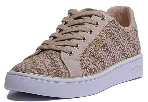 Guess, BECKIE2 Brown Sneaker Beige per Donna, 37