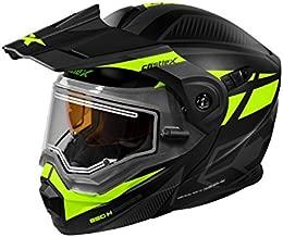 Castle X CX950 Blitz Electric Modular Snowmobile Helmet (XLG, Matte Black/Hi-Vis)