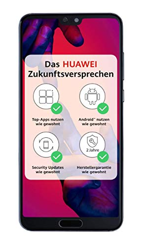 HUAWEI P20 Pro Smartphone (15,5 cm (6,1 Zoll), 40/20/8 MP Leica Triple Kamera, 128GB interner Speicher, 6GB RAM, Android 8.1, EMUI 8.1) Blau + gratis AM61 Headset [Exklusiv bei Amazon] - Deutsche Version