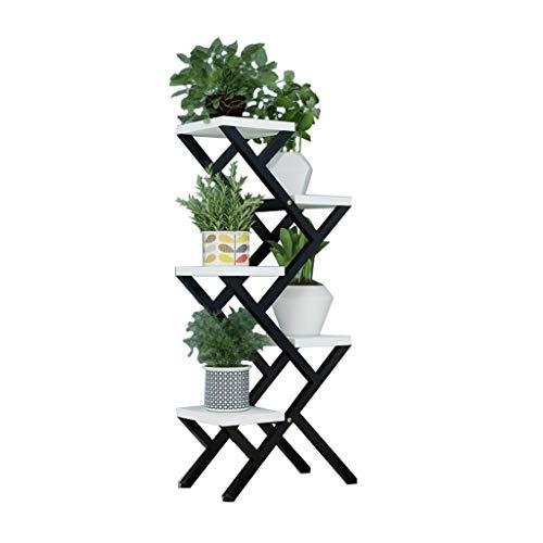 5 Couches de Sol en Fer Debout Stand de Fleurs Rack étagère de Rangement Pot Rack Salon Balcon et Multi-Fonction Intérieur Outdoor Plant Stand Cadre en métal Bonsaï