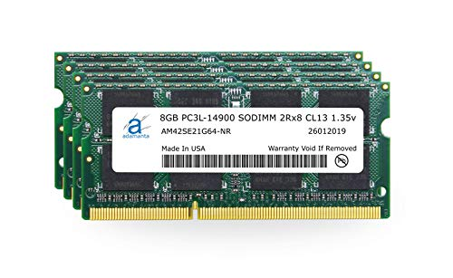 Adamanta 32GB (4x8GB) Apple Memory Upgrade Compatible with Late 2015 iMac 27' Retina 5K Display DDR3/DDR3L 1867Mhz PC3L-14900 SODIMM 2Rx8 CL13 1.35v RAM DRAM