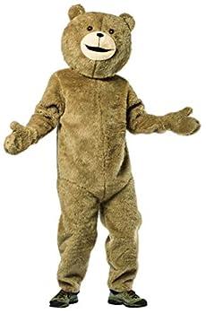 Rasta Imposta Teddy Bear Costume Funny Plush Fur Adult Mens Womens One Size Brown