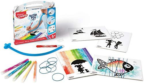 MAPED Creativ-Blowpen Art Aérographes pour Créer des Effets Incroyables-Activité String'Art-Transforme tes Feutres en Spray-Loisirs Créatifs pour Enfants dès 5 ans, 846710