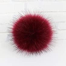 Dalab 10,12,15CM Large Handmade Imitate Fox Fur Ball Pompom Fluffy Bunny for Key Chain Garment Accessories Wholesale - (Color: 2, Size: 12CM)