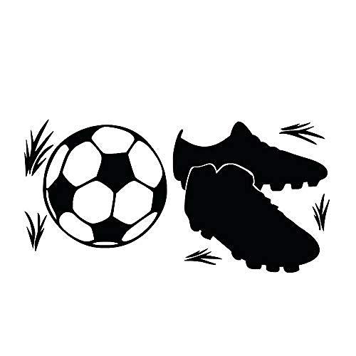 Zelfklevende muurstickers Sneakers en voetbal Muurstickers Verwijderbare Hoge Waterdichte Behang Art Vinyl Applique Creative Boy Room Decoratie 58X29Cm