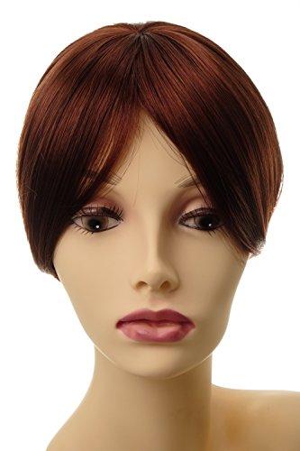 WIG ME UP ® - Postiche extension remplacement cheveux clip-in env. 20 cm brun rouille L008-35
