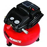 1/3 Horsepower 3 Gallon 100 PSO Oilless Pancake Air Compressor by CENTRAL PNEUMATIC At The Neighborhood Corner Store