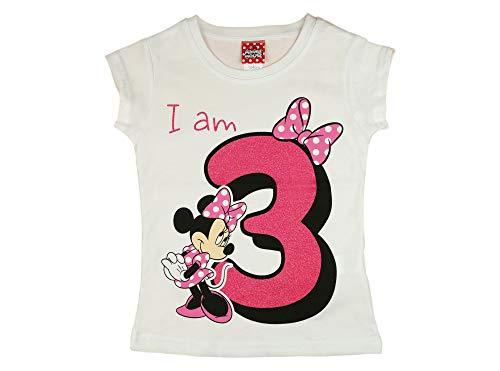 Camiseta de manga corta para niña de 3 años, de algodón,