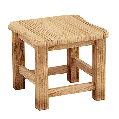 GNSDA kruk voor kinderen, massief hout, voetenbankje, multifunctioneel voor badkamer, woonkamer, slaapkamer, waskeuken of tuin
