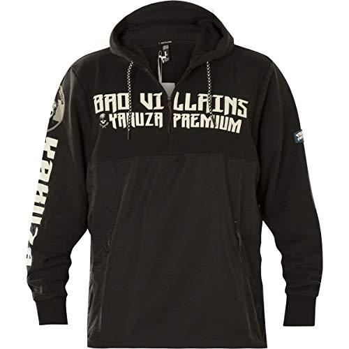 Yakuza Premium Jacke Zipp Sweater YPHZ-2826 Schwarz, XXXL