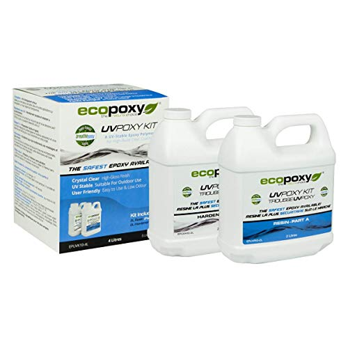EcoPoxy Coating Resin, 20L UVPoxy Kit for a Durable, Clear Coat Epoxy Finish Used for Counters,...