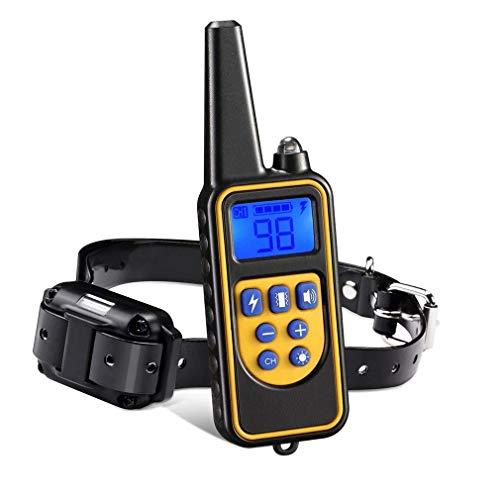 Mit ferngesteuertem Hundetrainingshalsband, IP67 wasserdichtem Anti Bell Halsband, Vier wiederaufladbaren Trainingsmodi, 800m kabellosem Fernbedienungs Vibrations Hund Halsband