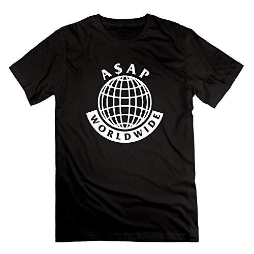 Men's ASAP Mob Logo ASAP Rocky Lord Short Sleeve T-Shirt Cotton Casual Funny Tee Shirt