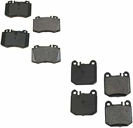 Front Rear Pads Oklahoma City Mall 2 Disc Brake Pad with Portland Mall Pair Compatible Set Merc