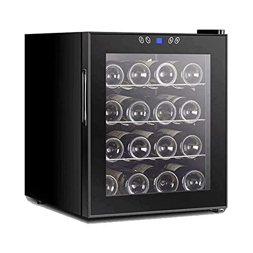 XTZJ 16 botellas de enfriador de vino / refrigerador refrigerador pequeño mini rojo y blanco bodega bodega soda. Pantalla de temperaturaDigital, puerta de vidrio de doble capa, compresor de operación