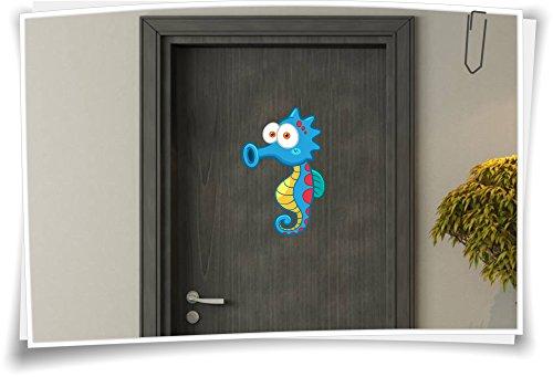 Medianlux deursticker kinderen sticker deur kindernaam naam naam baby on board zeepaardje