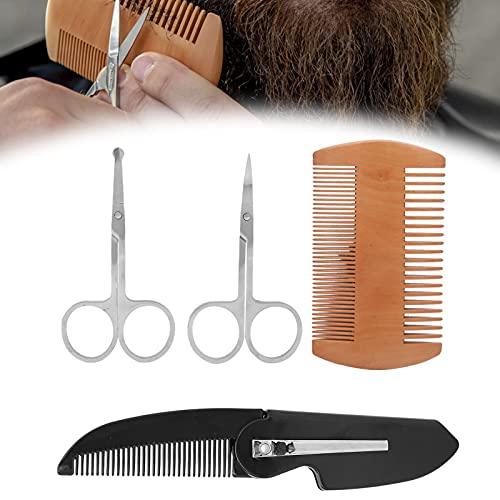 Baard Shaper Comb Kit, Snor Folding Kam Baard Kam voor Thuis voor Salon