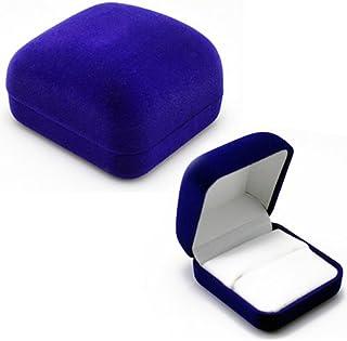 Clenp Caja para anillos, anillos de boda, de terciopelo, para compromiso, joyería, aretes, colgantes, para propuestas, com...