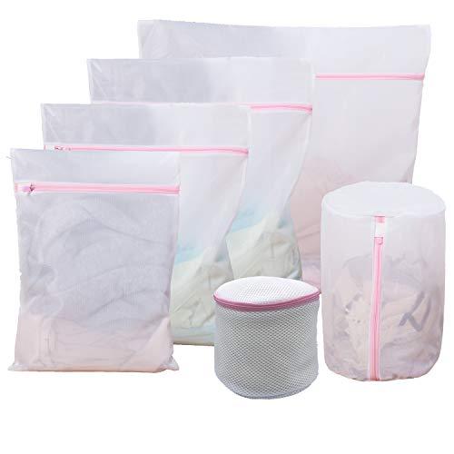 6枚入洗濯袋セット,各種 サイズ ランドリーバッグ, 再利用可能な丈夫な細かいメッシュの洗濯袋 旅行収納袋 家庭用 変形を防ぐ 絡み防ぎ タオル/ブラジャー/Tシャツ靴下小物/下着/シャツなど適用