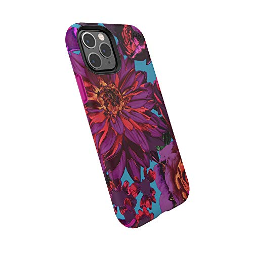 Speck Products Presidio Inked iPhone 11 Pro Case, HyperBloom Matte/Lipstick Pink